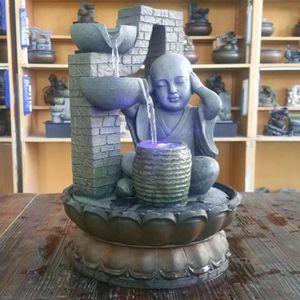 DIFFUSEUR DE CHALEUR Mini bureau fontaine forme unique eau ornements dé
