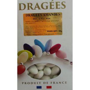 DRAGÉES Coffret de Dragée aux amandes Blanc 1KG Blanc