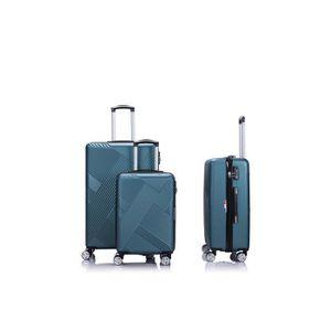 SET DE VALISES LYS - Set de 3 Valises bleu gris Rigide ABS 4 Roue