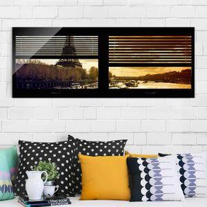 CADRE PHOTO 40x100 cm verre image - stores de fenêtre vues - p