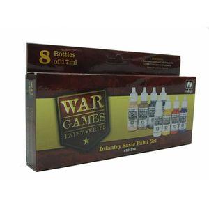 ACCESSOIRE MAQUETTE Vallejo Model Color Set - WWII Wargames - Infantry