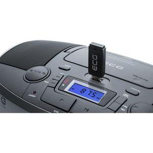 RADIO CD CASSETTE ECG CDR 1000 U - Titan Radio CD USB MP3 - Télécomm