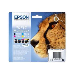 CARTOUCHE IMPRIMANTE EPSON Multipack T0715 - Guépard - Noir, Cyan, Mage