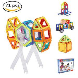 ASSEMBLAGE CONSTRUCTION Blocs de construction magnétiques 71 Pièces 3D bri