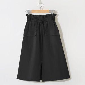 JUPE Womens Denim Casual Vintage confortable taille hau