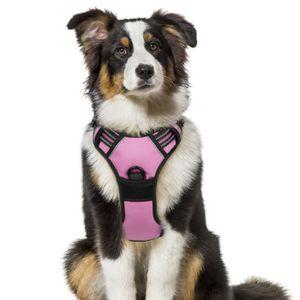 HARNAIS ANIMAL Harnais Chien - Gilet pour chien- Rose taille XL -