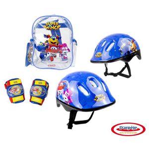PATIN - QUAD SUPER WINGS Set 3 protections : casque + coudières