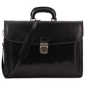 CARTABLE Tuscany Leather - Cartable cuir - Noir - Homme