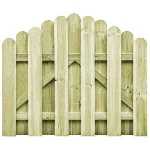 Festnight Portail de Jardin Portillons de Jardin Cloture de Jardin Cloture Exterieur terrasse Patio en Bois de pin FSC 100x125cm