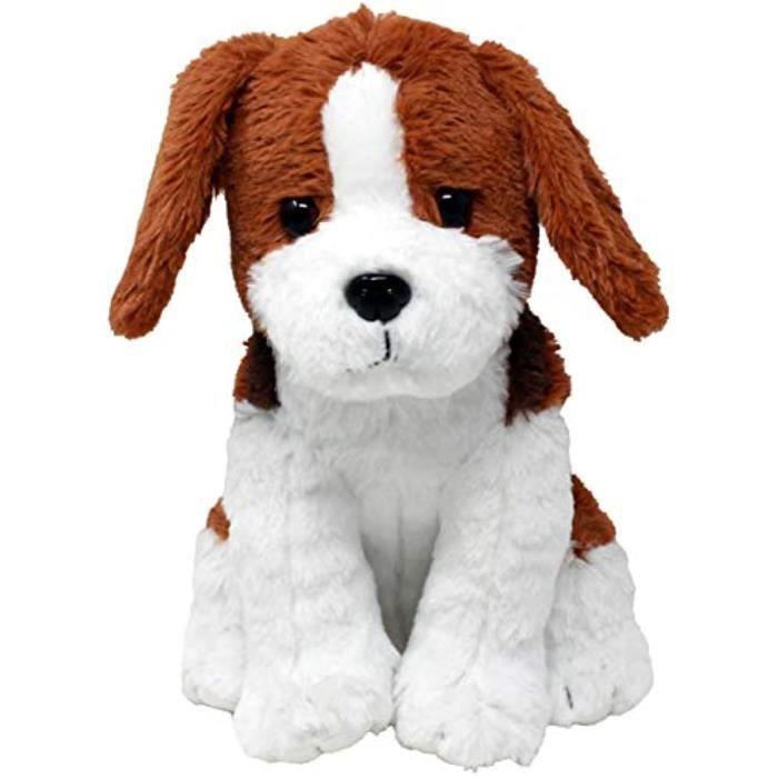 Peluche S2EE3 Animaux en peluche: Joey 1 Beagle Plush Dog basé sur RealLife Adopted Pets Brown Black and White Profitant des refuges