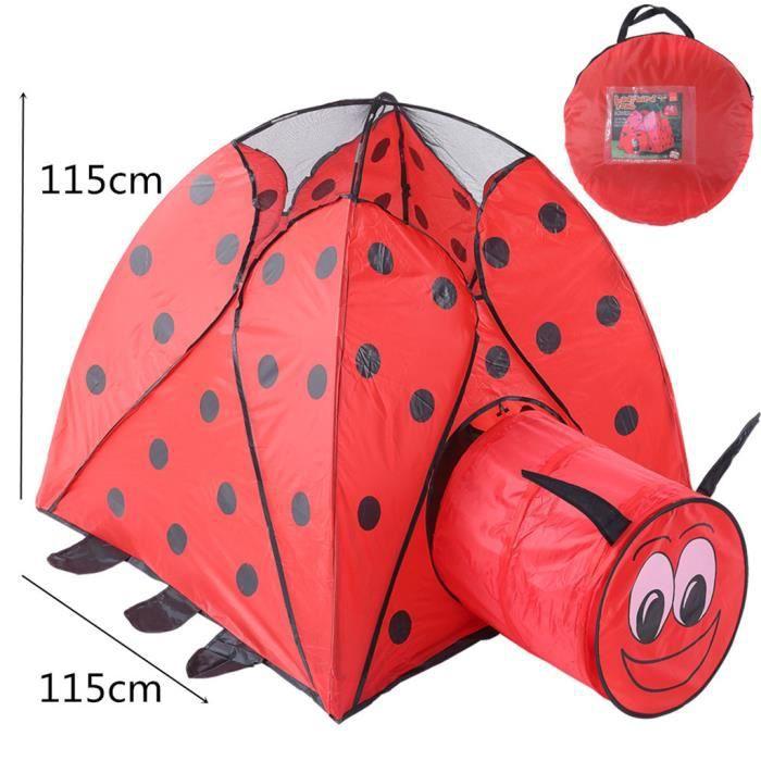 JOUET Pliant Enfants Enfants Playhouse Tente - extérieur Beetle rouge Tente tunnel CJL81220306_168