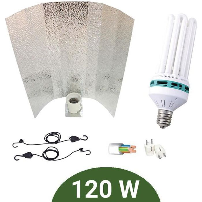 Kit lampe 120W CFL Agrolite Croissance + Stucco