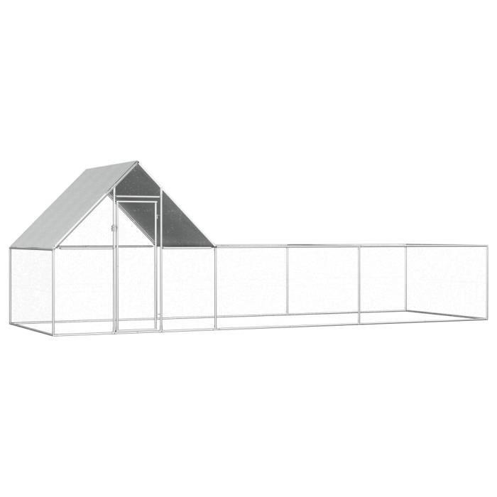 🍓6546Moderne - Poulailler extérieur - Enclos poulailler Contemporain- Parc grillagé Clapier d'extérieur cages pour lapin petits ani