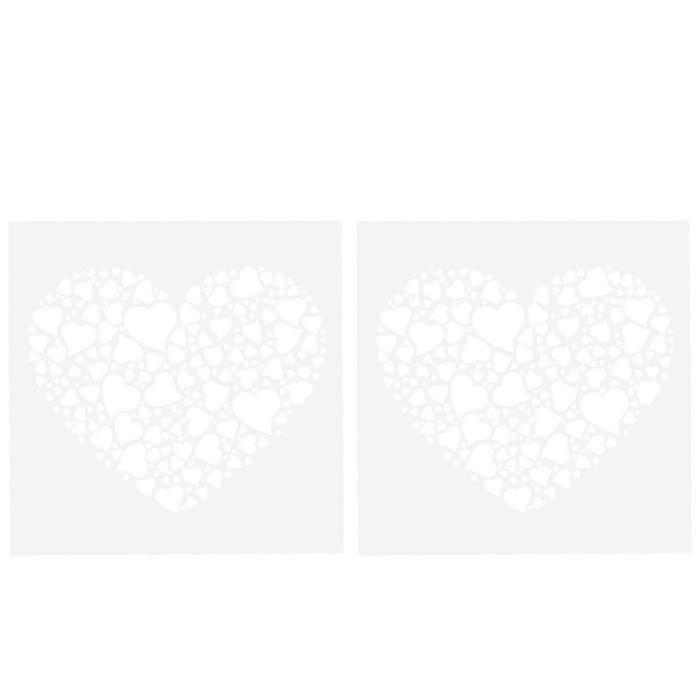 2 pièces emporte-pièce moule grand et petit amour coeur conception à gâteau de cuisson pour MOULE A GATEAU - MOULE DE PATISSERIE