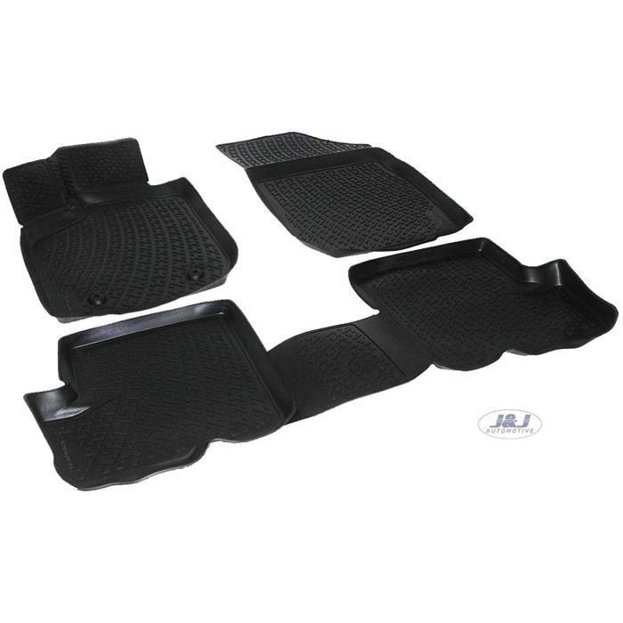 Tapis de sol J&J AUTOMOTIVE - 3D Exclusive Tapis DE Sol en Caoutchouc Compatible avec Dacia SANDERO STEPWAY II 2012-prés 1061