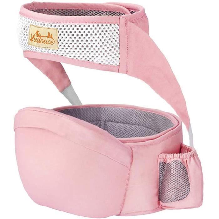 Porte bébé Ventral,Ergonomique Tabouret Siège de Hanche avec Protection de Ceinture de Sécurité,Pur Coton Multi Positions Tabouret B