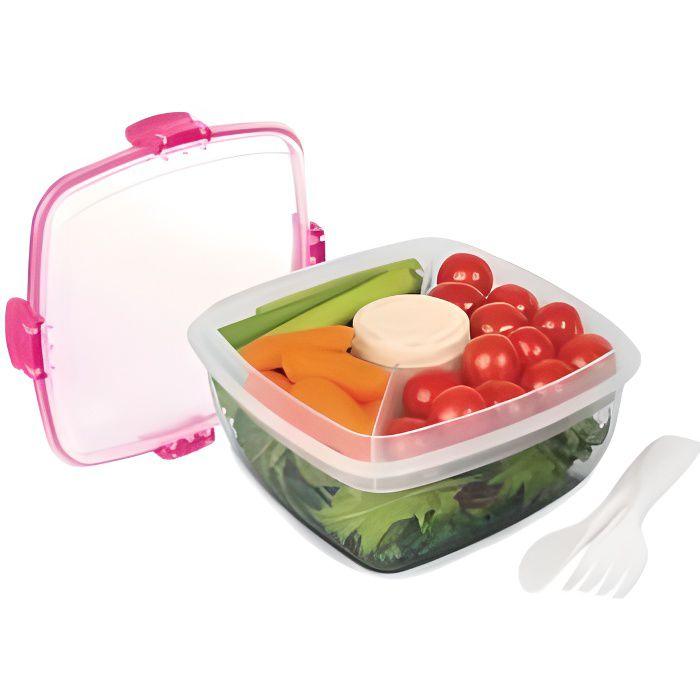 SISTEMA Boîte à repas carrée à clips Salad To Go - 1,1L
