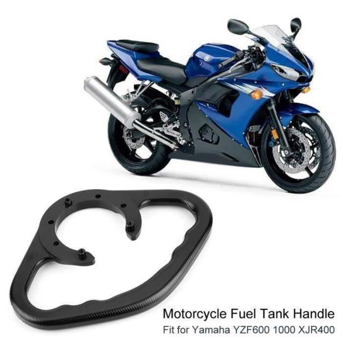 Barre d'appui pour réservoir de carburant pour poignée de passager moto pour Yamaha YZF600 1000 XJR400 (noir)-LAT
