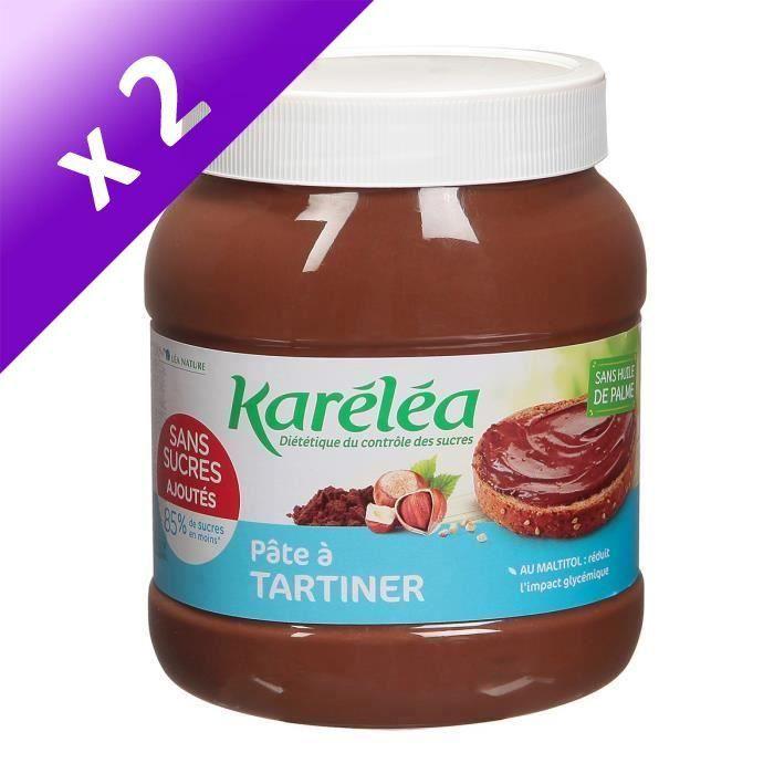 [LOT DE 2] LEA NATURE Karéléa Pâte à Tartiner Noisette Cacao - 750 g