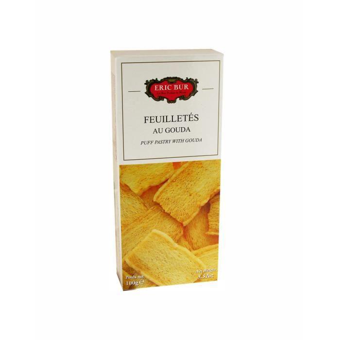 ERIC BUR Biscuits Feuilletés au Gouda - 100 g