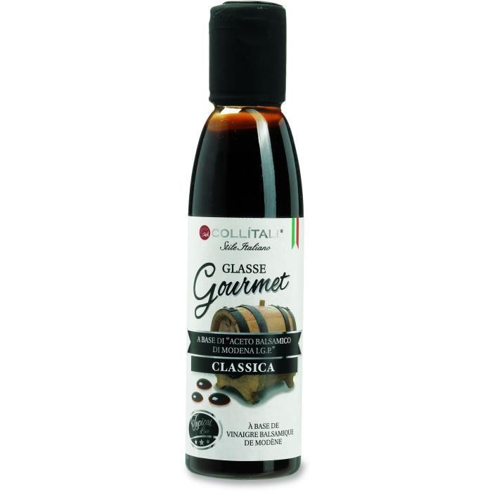 COLLITALI Crème balsamique de Modène classique noire - bouchon graphique - 180 g / 150 ml