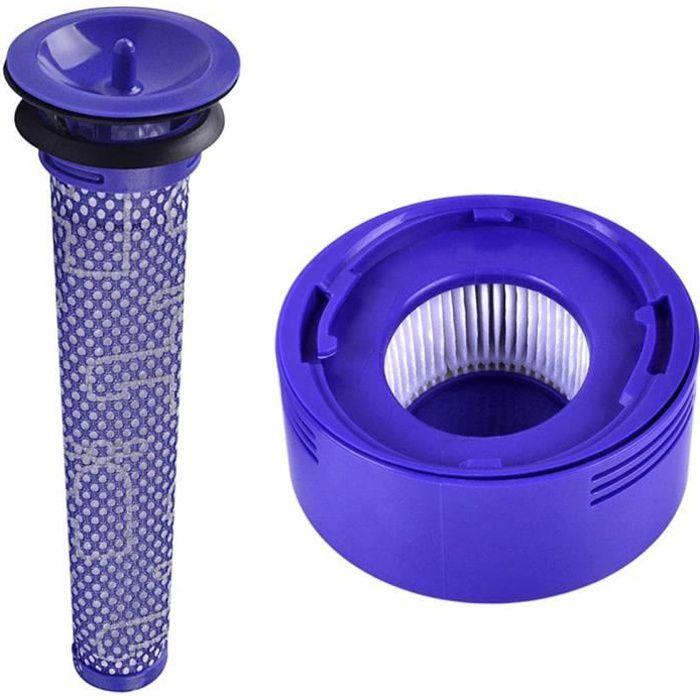 Kit Filtre pour Dyson V7 V8 DC 58 DC 59 DC 61 Animale Absolute Cleaner Filtres Lavable Dyson