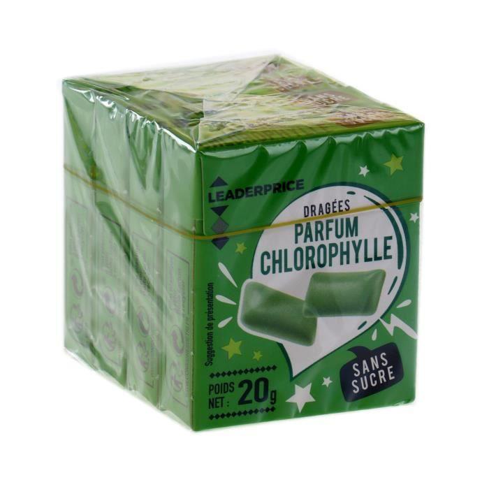 [Lot de 9] Boite de dragées chewing-gum parfum chlorophylle - 80g par paquet
