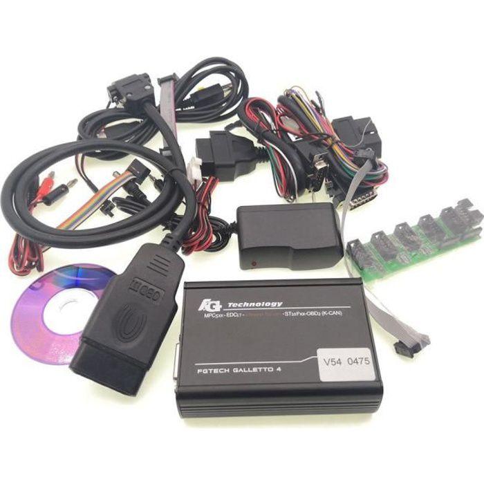 Outils de diagnostic de voiture FGtech Galletto 2V54 Fg Tech V54 Master 4 BDM-TriCore-OBD