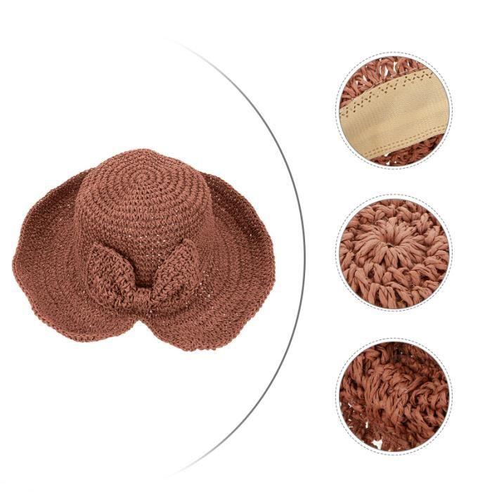 1pc Summer Hat Foldable Sun Protection Outdoor Activities Braid casquette accessoire mode
