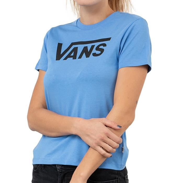 T-Shirt Bleu Femme Vans Flying