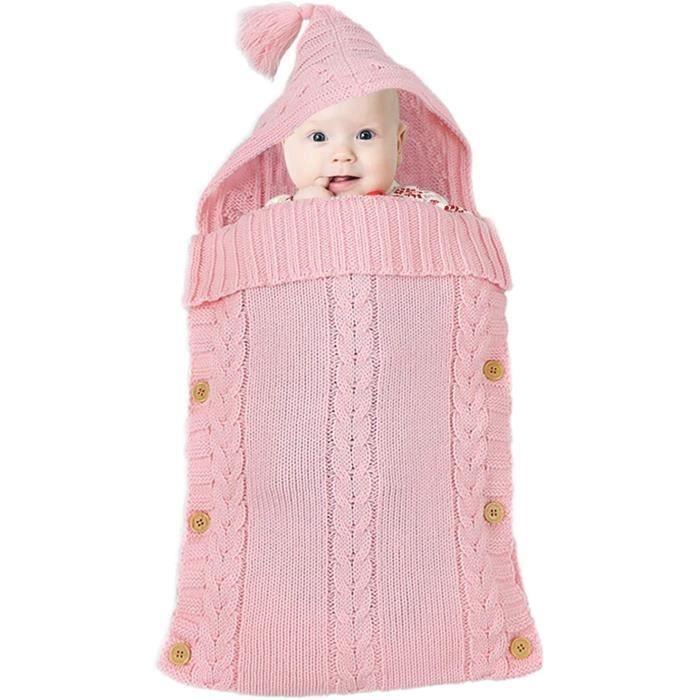 Gigoteuse Bébé Hiver 0-12 Mois Turbulette Bebe Coton Tricoté Unisexe Fille Garçon Sac de Couchage pour Bambin