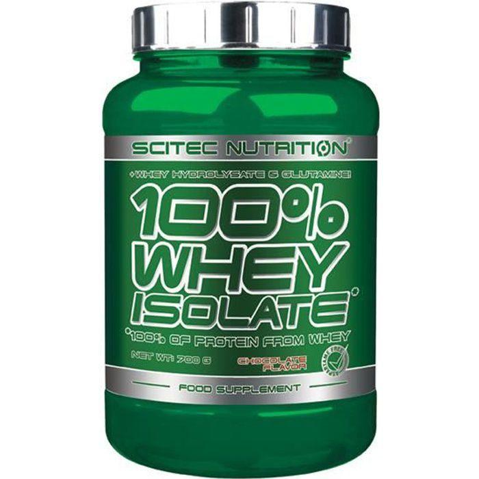100% Whey Isolate 700 gr CHOCOLAT Scitec Proteine