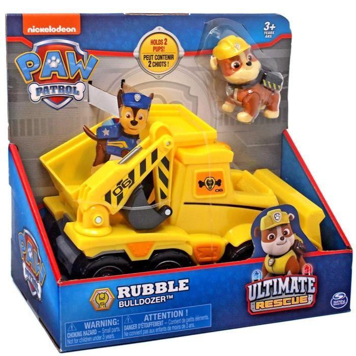 Bouteur de gravats Ultimate Rescue Paw Patrol avec figurine