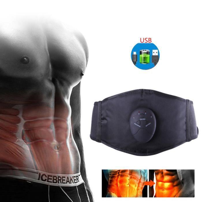 EMS Appareil Ceinture abdominal muscle Stimulateur amincissante à la taille électrique Entraîneur de taille à 6 modes -Rechargerble