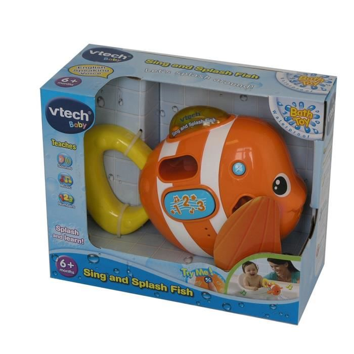 VTech Baby - Sing and Splash Fish - Léon, Petit Poisson à Chansons Version Anglaise