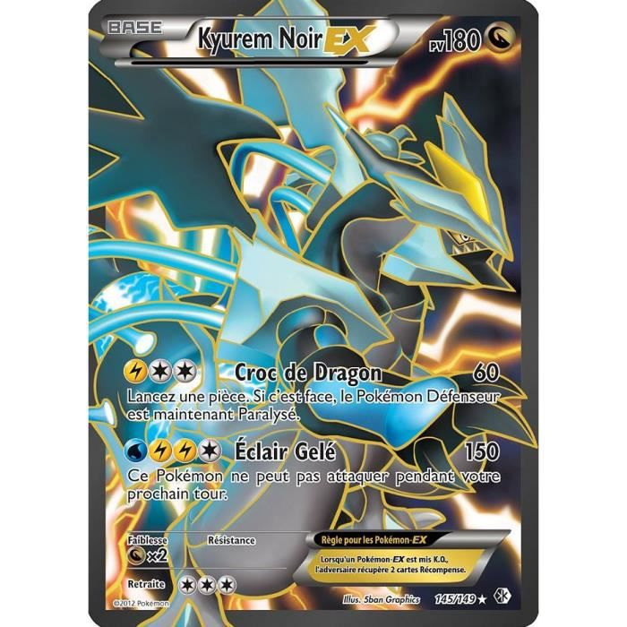 carte pokemon kyurem noir ex full art 180 pv achat. Black Bedroom Furniture Sets. Home Design Ideas
