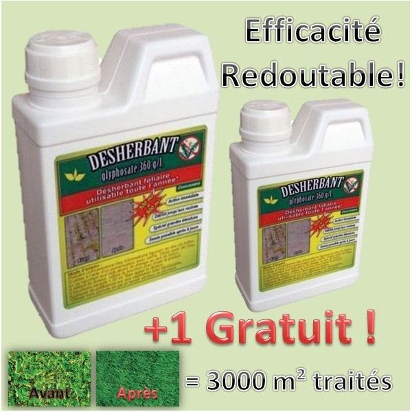 desherbant mauvaises herbes glyphosate 500 ml achat vente d sherbant herbicide desherbant. Black Bedroom Furniture Sets. Home Design Ideas
