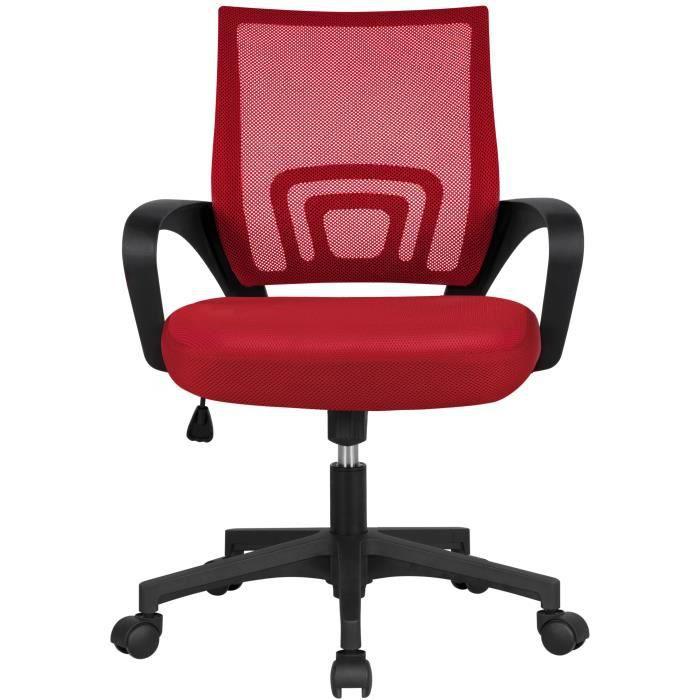 61 x 61 x 95-105 cm Noir Yaheetech Chaise de Bureau /à Roulettes avec Accoudoirs Pliables Fauteuil Ordinateur Si/ège Plus Large Hauteur R/églable