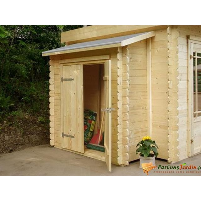 ABRI JARDIN - CHALET Remise adossée pour abri de jardin en bois L178cm