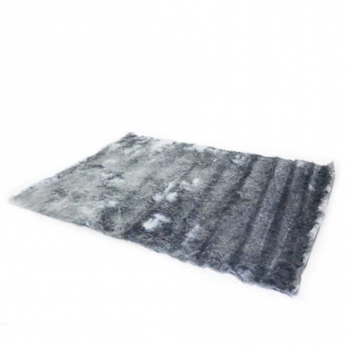 tapis shaggy 160 x 230 gris achat vente tapis cdiscount. Black Bedroom Furniture Sets. Home Design Ideas