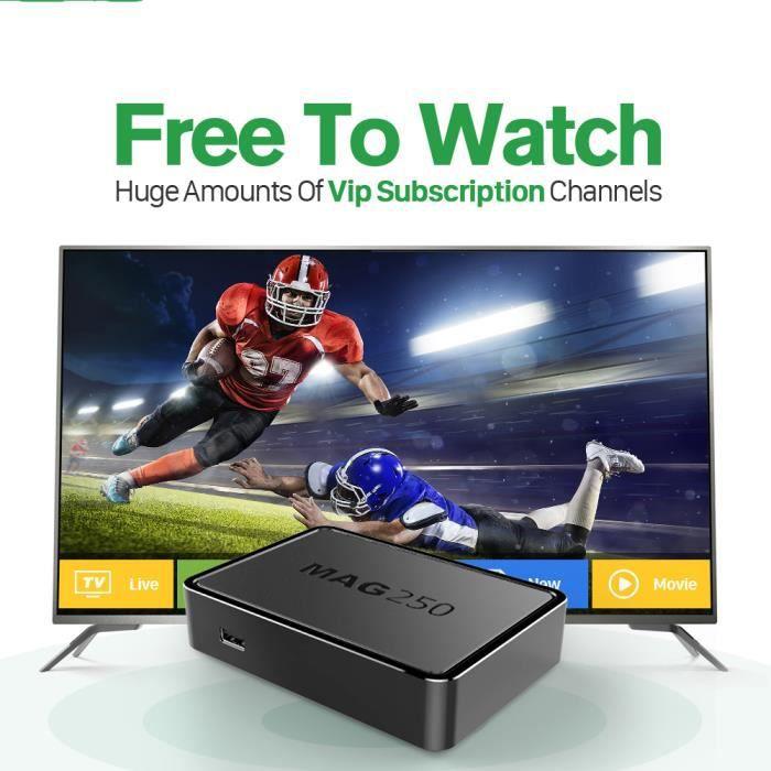 BOX MULTIMEDIA MAG 250 IPTV Box Avec 1 Year IUDTV IPTV Compte USB