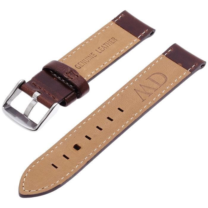 bracelet cuir marron daniel wellington