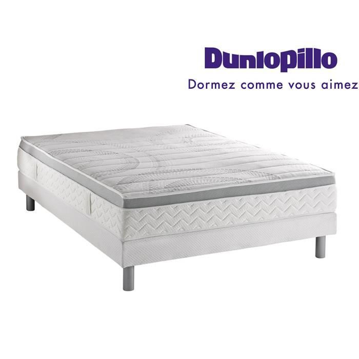 ensemble dunlopillo matelas aero prestige 180x200 2 sommiers 90x200 pieds achat vente. Black Bedroom Furniture Sets. Home Design Ideas