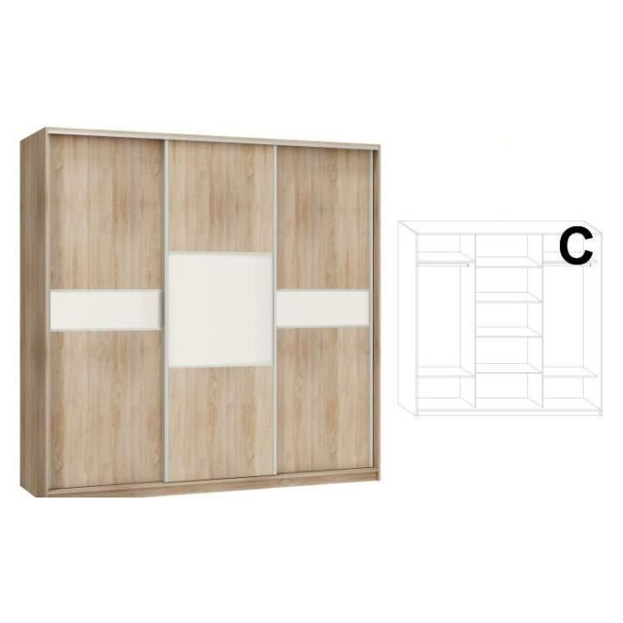 armoire dressing 3 portes coulissantes porto achat. Black Bedroom Furniture Sets. Home Design Ideas