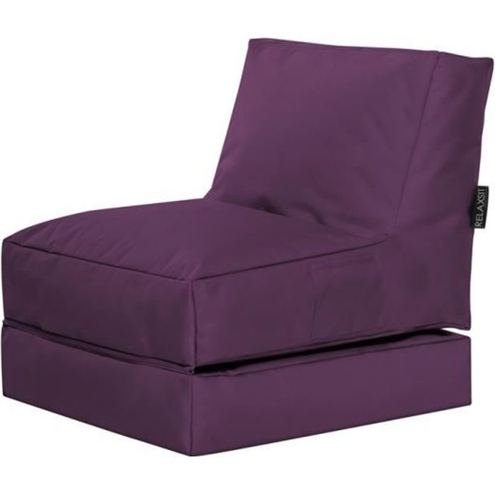fauteuil multifonction twist aubergine by sittingp achat vente chauffeuse 100 polyester. Black Bedroom Furniture Sets. Home Design Ideas