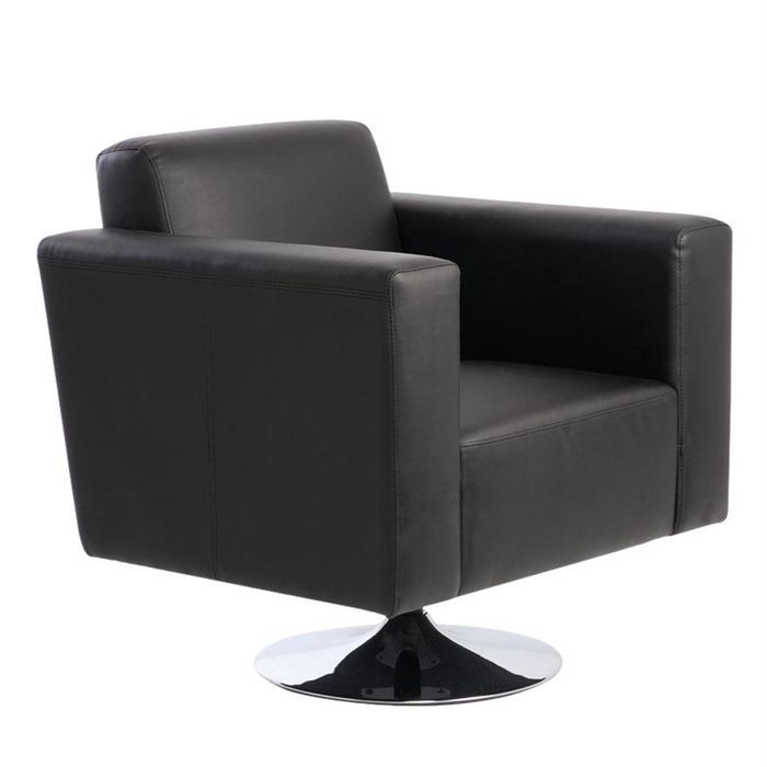 fauteuil noir pivotant contemporain boston achat vente. Black Bedroom Furniture Sets. Home Design Ideas