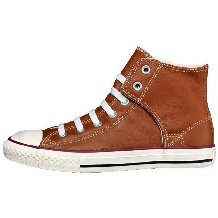 converse all star cuir marron femme