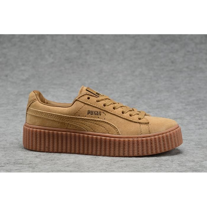 grossiste c4f20 105be Baskets Puma Rihanna Suede Creepers Chaussures Homme Femme ...