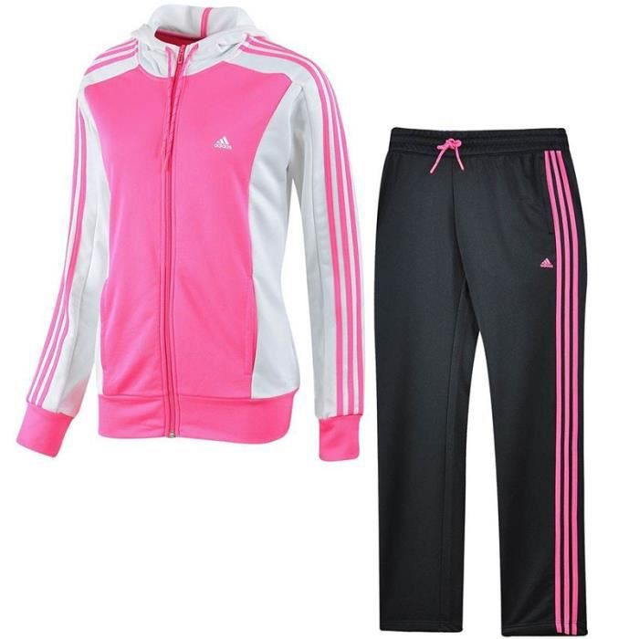 survetement rose femme adidas