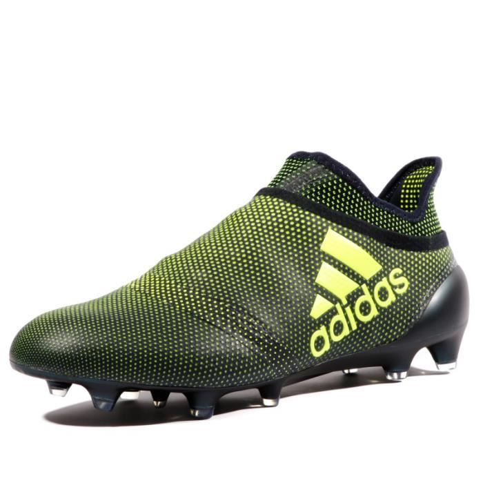 sports shoes 941bf 6f9f2 X 17+ Purespeed FG Homme Chaussures Football Noir Jaune Adidas